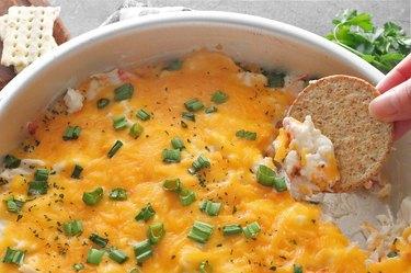 Bake hot creamy crab dip