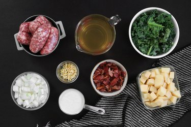 Ingredients for Olive Garden's Zuppa Toscana soup copycat recipe