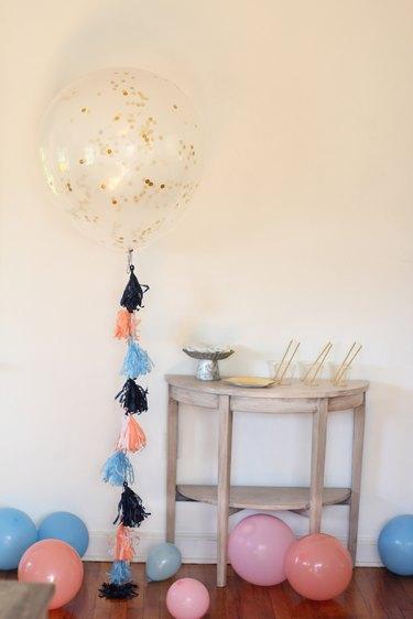 diy confetti tassel balloon