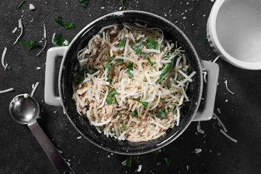 Combine breadcrumbs, cheese and spices