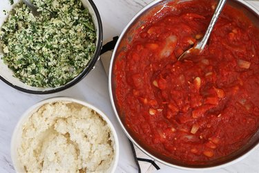 Vegan lasagna ingredients