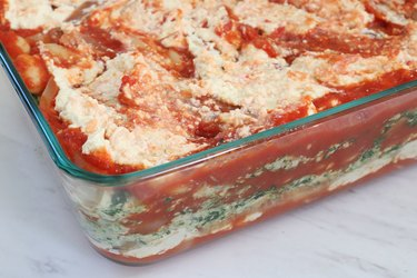 Layer vegan lasagna ingredients