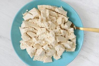 Break up tofu