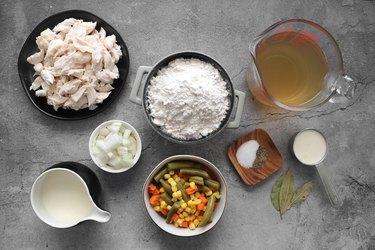 Ingredients for easy Bisquick dumplings