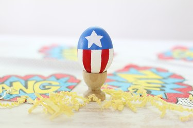 Captain America painted Easter egg