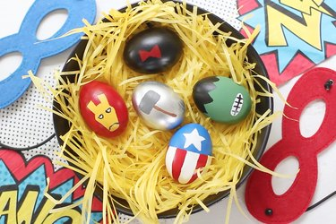 Painted Avengers Easter eggs