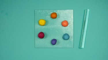 Materials for DIY Colorful Abstract Art Polymer Clay Coasters