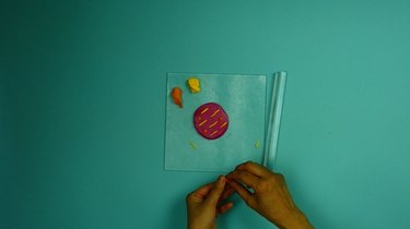 Creating a design on Abstract Art Polymer Clay Coasters