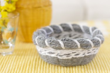 This technique is an uncomplicated way to be introduced to the art of basket weaving.