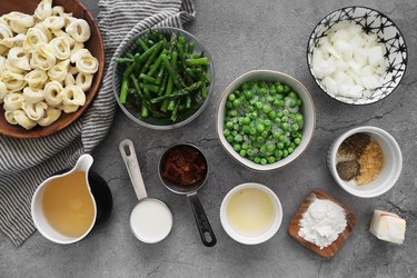Ingredients for spring tortellini