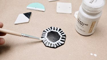 Painting clay for DIY Polymer Clay Wall Art Hanging
