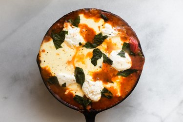Cast Iron Skillet Lasagna is an easy and delicious weeknight meal.