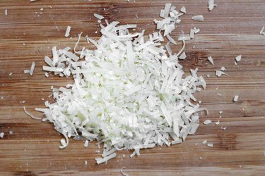 Finely chop Parmesan cheese