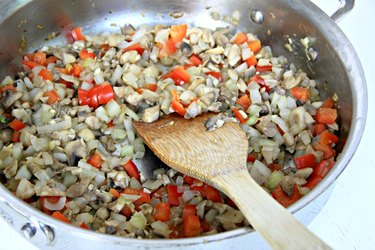 cooked veggies for healthy turkey lettuce wraps