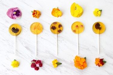 floral lollipops