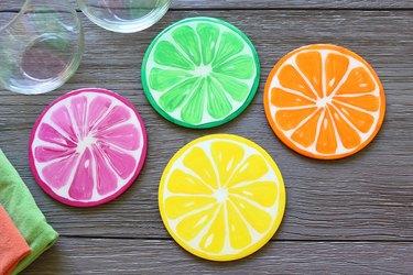 fruit coasters