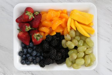 Fresh fruit for pizza tart