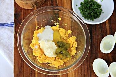 Bacon Deviled Eggs Recipe mix