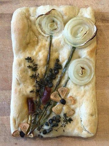 Jaclyn Marie's Floral Focaccia