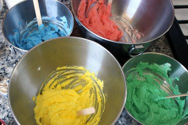 dyed frosting