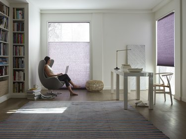 LEVOLOR purple blinds