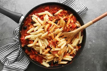 Add the pasta to the sauce