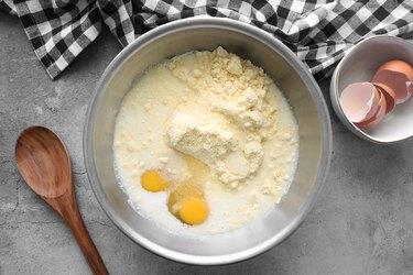 Combine cornbread ingredients