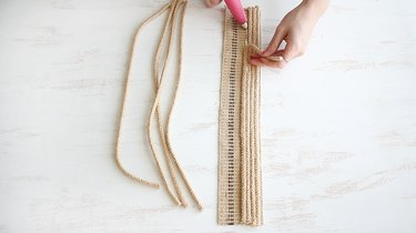 Gluing rope strands to webbing