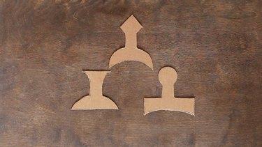 Cardboard sword handles