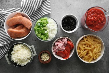 Ingredients for pizza casserole recipe