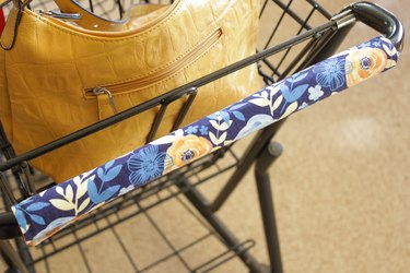 In addition to social distancing and having a list to reduce your time in the store, attach a washable handle cover to give you one more line of defense.