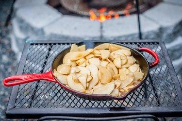 How to Make Campfire Skillet Apple Cobbler