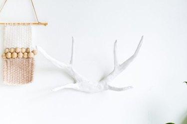 DIY clay antlers