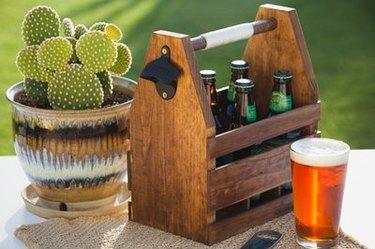 DIY wood beer caddy