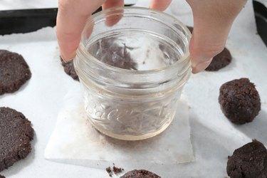 Flatten cookie dough