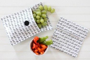 Reusable fabric snack bag