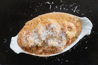 Sprinkle over the parmesan.