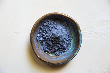 Blue spirulina in a serving dish