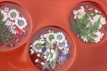 flowers in resin
