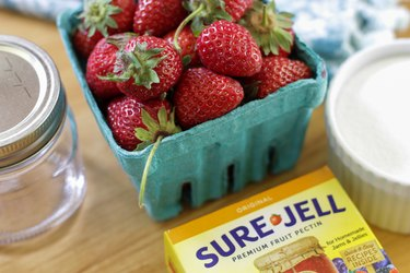 Ruby red and mouth-watering sweet, strawberry jam is a summertime treat!