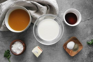 Ingredients for Ikea Swedish meatball sauce