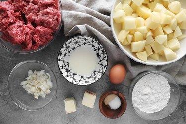 Ingredients for copycat Ikea Swedish meatball recipe