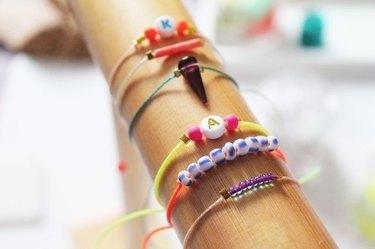 A variety of DIY string bracelets