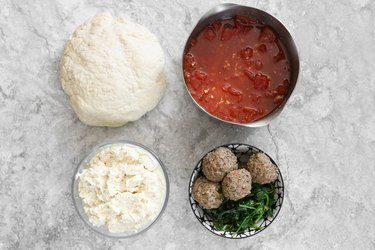 Ingredients for mini vegan calzones