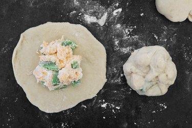 Add jalapeño cheese filling