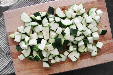 Dice the zucchini