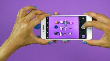 "Taking photo of objects inside DIY ""I Spy"" Bottle Travel Toy"