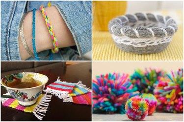 10 Fun & Easy Yarn Craft Ideas