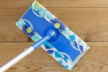 A good wet/dry sweeper can be your best friend. You can easily make a stack of your own reusable pads in a couple of hours.