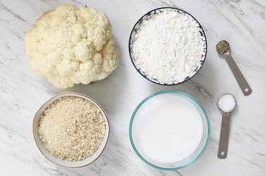 Ingredients for vegan general tso's cauliflower